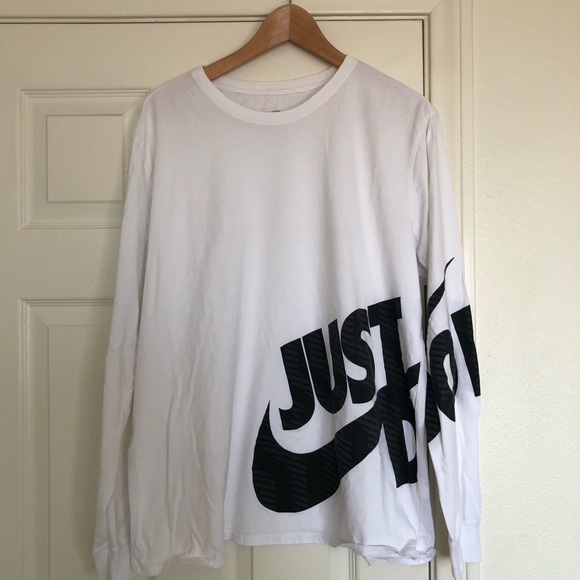 f2bca32027a2b Nike Shirts | Swoosh Sportswear Long Sleeve Tshirt In White | Poshmark